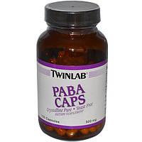 Twinlab, PABA Caps, 500 mg, 100 Capsules