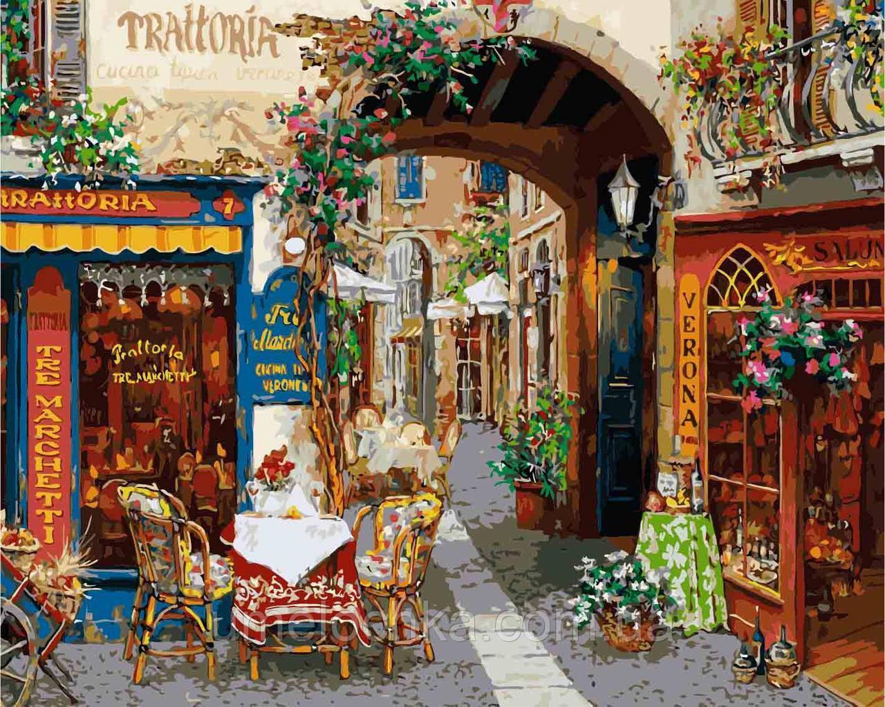 Картина по номерам без коробки Идейка Волшебный переулок Худ Виктор Швайко (KHO2173) 40 х 50 см