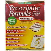 Nature's Bounty, Prescriptive Formulas, оптимальные витамины для женщин, 30 пакетов