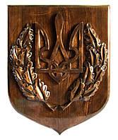 Герб Украины ручная резьба
