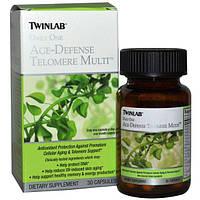 Twinlab, Ежедневная защита от старения, Теломер мульти, 30 капсул