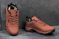 Мужские зимние кроссовки Timberland коричневые 3566
