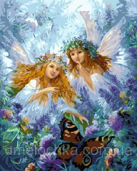 Картина по номерам без коробки Феи и бабочки (BK-GX8263) 40 х 50 см