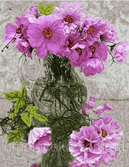 Раскраска по номерам Нежно-розовый букет (BRM5076) 40 х 50 см