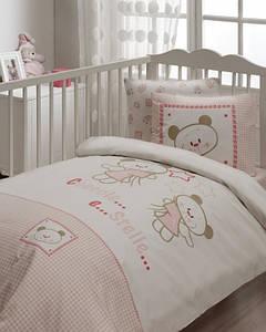 Детский набор в кроватку для младенцев Karaca Home Stella розовое (7 предметов)