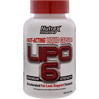 Nutrex Research Labs, Lipo 6 максимальная сила, 120 жидкостных капсул