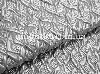 Ткань лак серебро стеганный на синтапоне