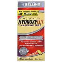 Muscletech, Pro-Clinical Hydroxycut, 99% без кофеина, 72 капсуловидные таблетки с быстрым высвобождением