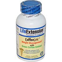 Life Extension, CoffeeGenic, контроль за весом с экстрактом зеленого кофе , 90 растительных капсул