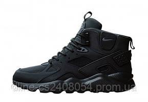 Мужские кроссовки Nike Huarache High Black Mono