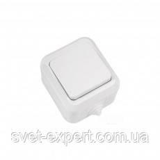 Вимикач 1-клавішний IP44 Біла Makel