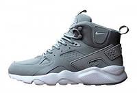 Мужские кроссовки Nike Huarache High Gray, фото 1