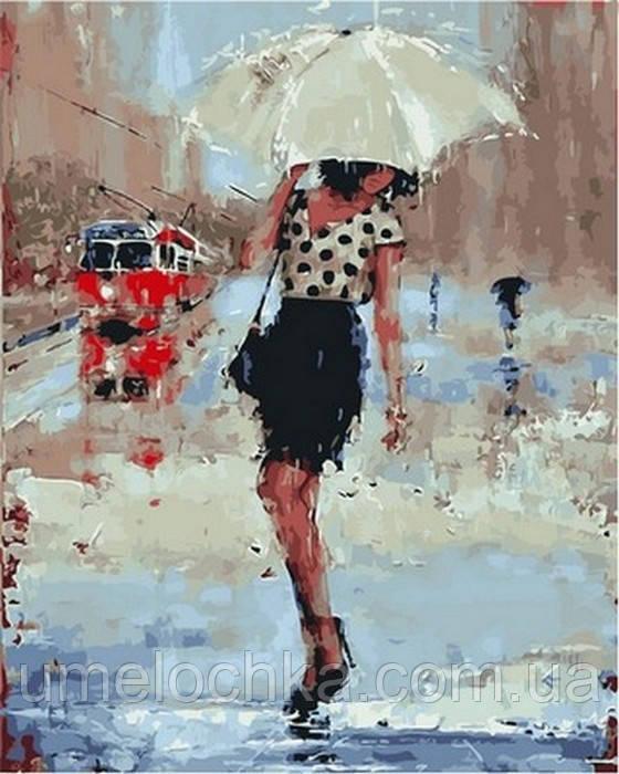 Картина по номерам (на цветном холсте) DIY Babylon Premium Симфония дождя (NB834) 40 х 50 см