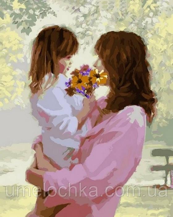 Картина по номерам DIY Babylon Букет для мамы (VP778) 40 х 50 см