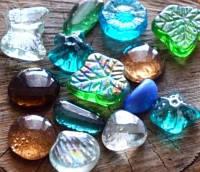 Камни для декора Стеклянные Фигуры d 3-4 см, 400 гр