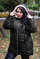 Очень теплая зимняя куртка с асимметричным низом