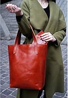 Сумка шоппер женская натуральная кожа коньяк (ручная работа), фото 1