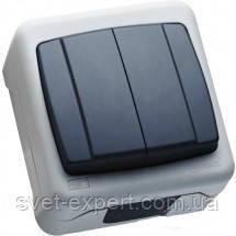 Вимикач 2-клавішний IP55 плюс Makel, фото 2