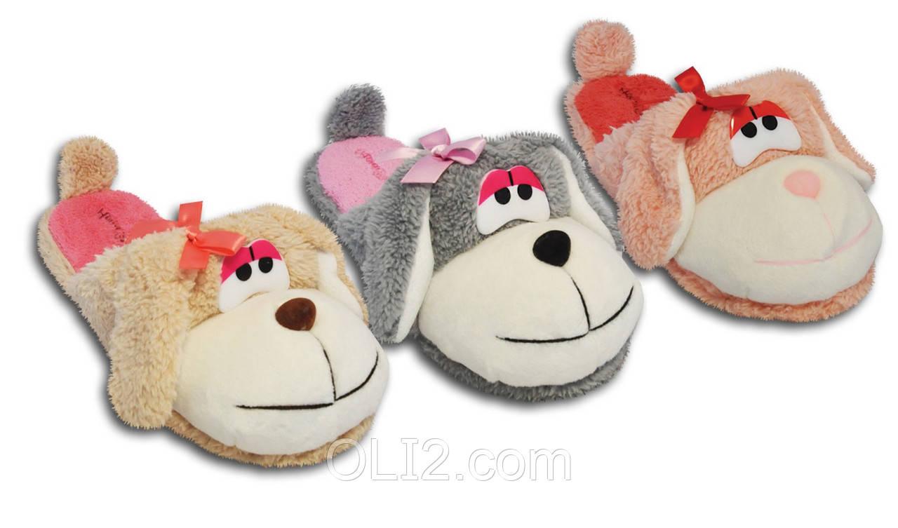 Тапочки домашние женские собаки 71502-ТС