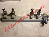 Рампа топливная форсунок в сборе Сенс Sens металлическая Россия заводская с форсунками Siemens, фото 1