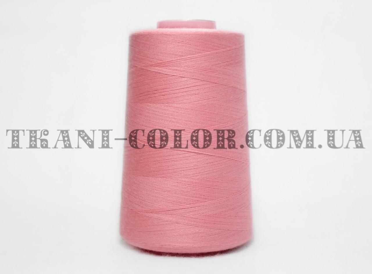 Нитка швейная 40/2 розовая 4000 ярдов
