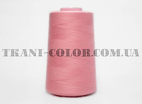 Нитка швейная 40/2 розовая 4000 ярдов, фото 2