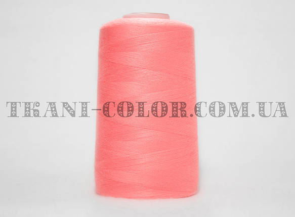 Нитка швейная 40/2 ярко-розовая 4000 ярдов, фото 2