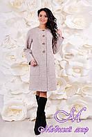 Демисезонное женское пальто большого размера (р. 44-58) арт. 1065 Тон 111