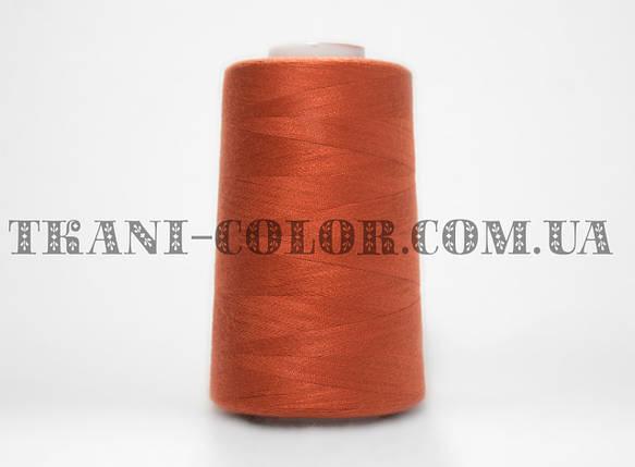 Нитка швейная 40/2 кирпичная 4000 ярдов, фото 2