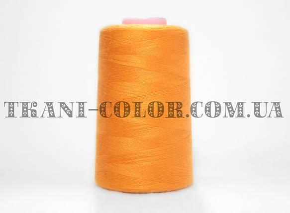Нитка швейная 40/2 оранжевая 4000 ярдов, фото 2