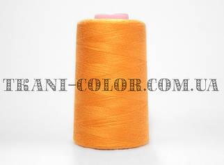 Нитка швейная 40/2 оранжевая 4000 ярдов