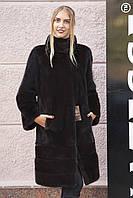 "Шуба полушубок из датской норки ""Дина"" Real mink fur coats jackets, фото 1"