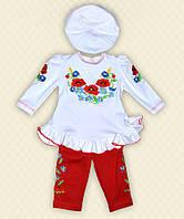 TM Dresko Комплект ясельный для девочек: кофта, штаны, берет интерлок (60079)