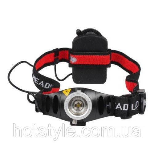 Налобный фонарь CREE Q5 LED 2000 лм с ИК управлением/фара/фонарик