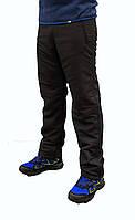 Мужские чёрные зимние штаны Nike плащёвка на флисе