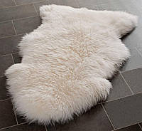 Шкура натуральная овечья, длинная 125на75см