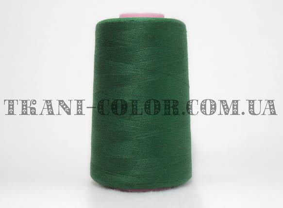Нитка швейная 40/2 темно-зеленая бутылка 4000 ярдов, фото 2