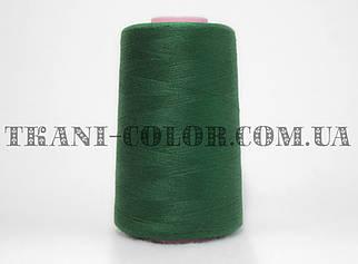 Нитка швейная 40/2 темно-зеленая бутылка 4000 ярдов