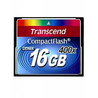 Flash карточка Compact Flash TRANSCEND 16 GB (400X)