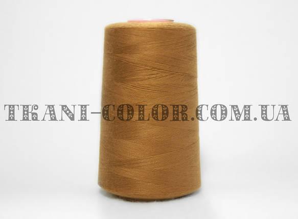 Нитка швейная 40/2 светло-коричневая 4000 ярдов, фото 2