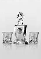 Набор для виски Bohemia Quadro Edem платина (2+1). Мужской набор