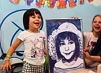 Детские портреты блестками своими руками