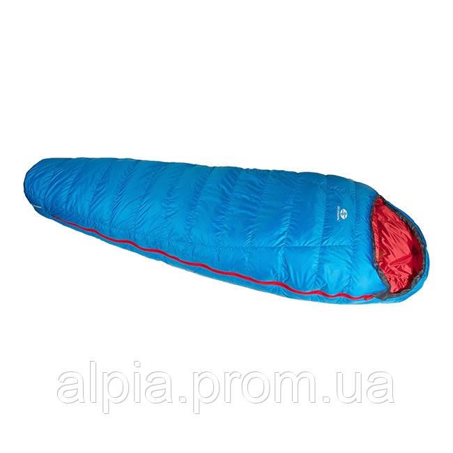 Пуховый спальный мешок Sir Joseph Rimo II 1000/190/-13.5°C Blue/Red (Left)