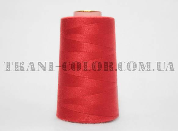 Нитка швейная 40/2 ярко-красная 4000 ярдов, фото 2