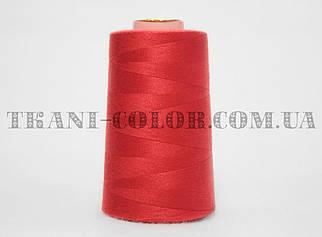 Нитка швейная 40/2 ярко-красная 4000 ярдов