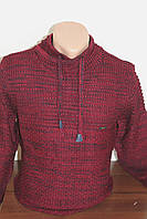Мужской вязаный свитер Sey стойка со шнурками