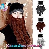 Зимняя шапка с бородой Викинг
