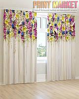 Фото шторы разноцветные цветы
