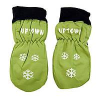 Варежки детские и подростковые Uptown (LB70581291), зеленые, розовые