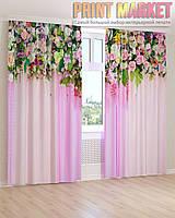 Фото шторы яркие цветы